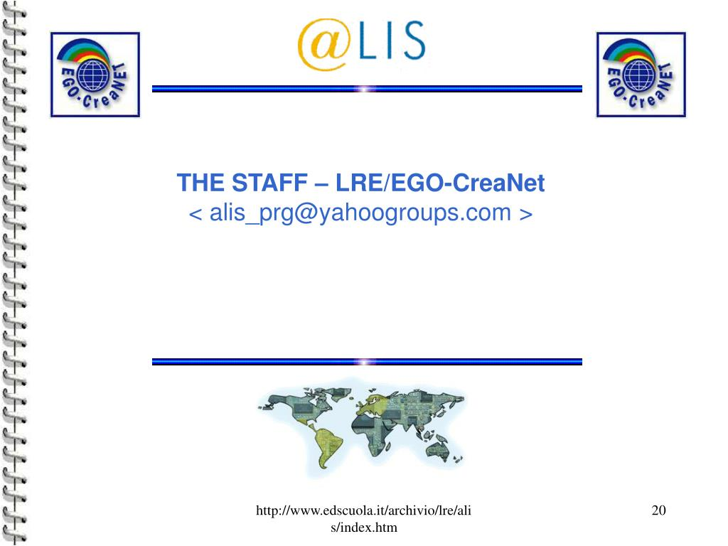 THE STAFF – LRE/EGO-CreaNet