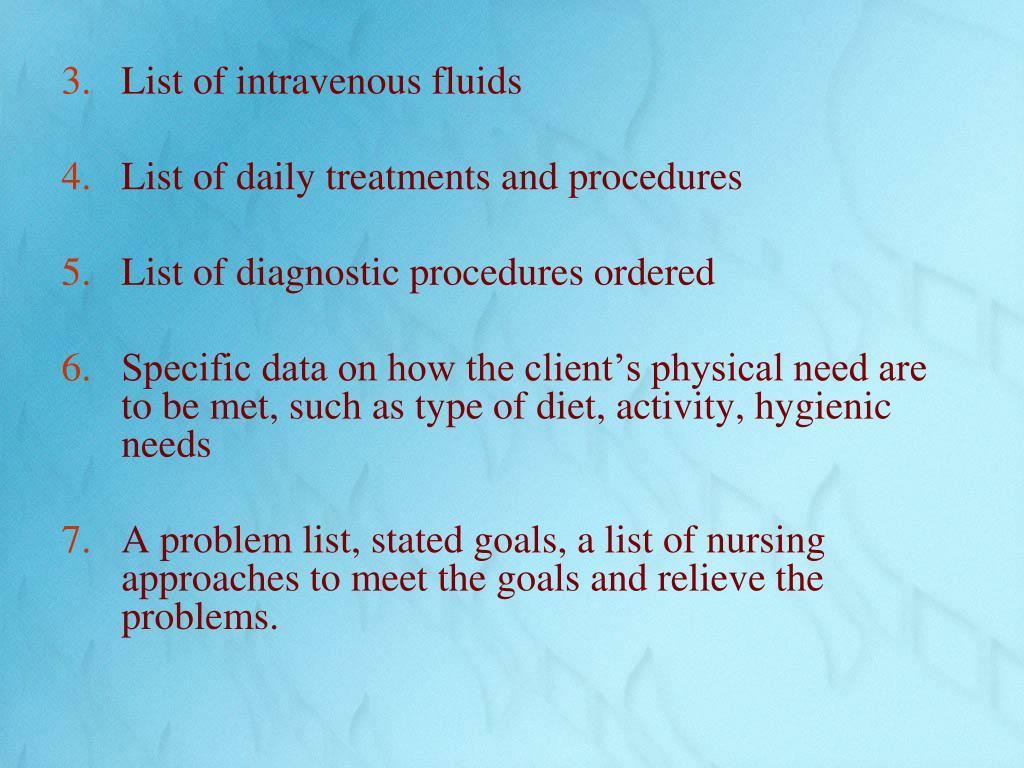 List of intravenous fluids