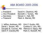 aba board 2005 2006