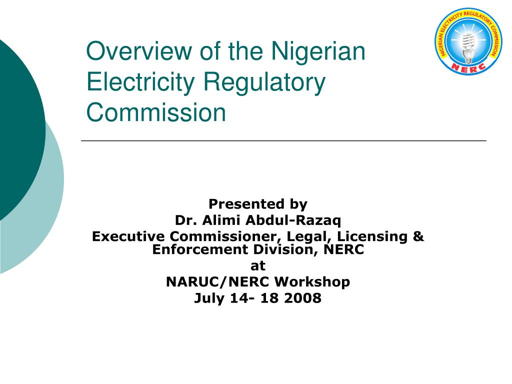 overview of the nigerian electricity regulatory commission l.