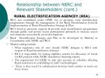 relationship between nerc and relevant stakeholders cont