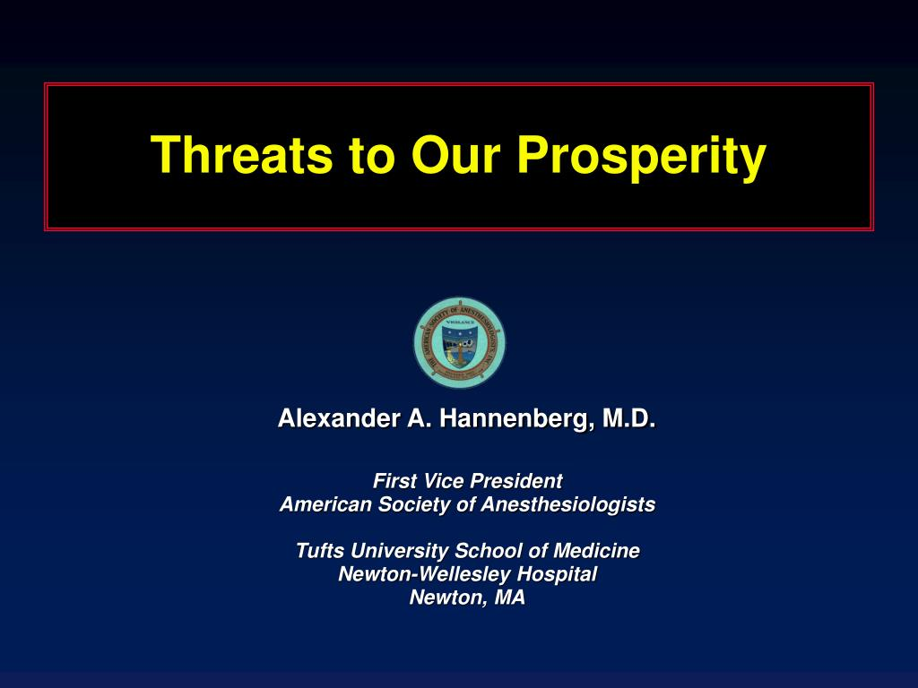 threats to our prosperity l.