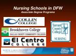 nursing schools in dfw associate degree programs