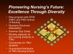 pioneering nursing s future excellence through diversity