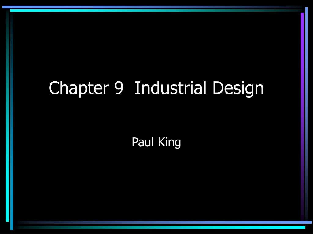 chapter 9 industrial design l.