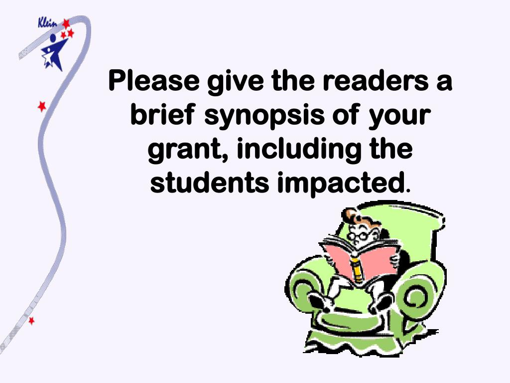 Please give the readers a brief synopsis of your grant, including the students impacted