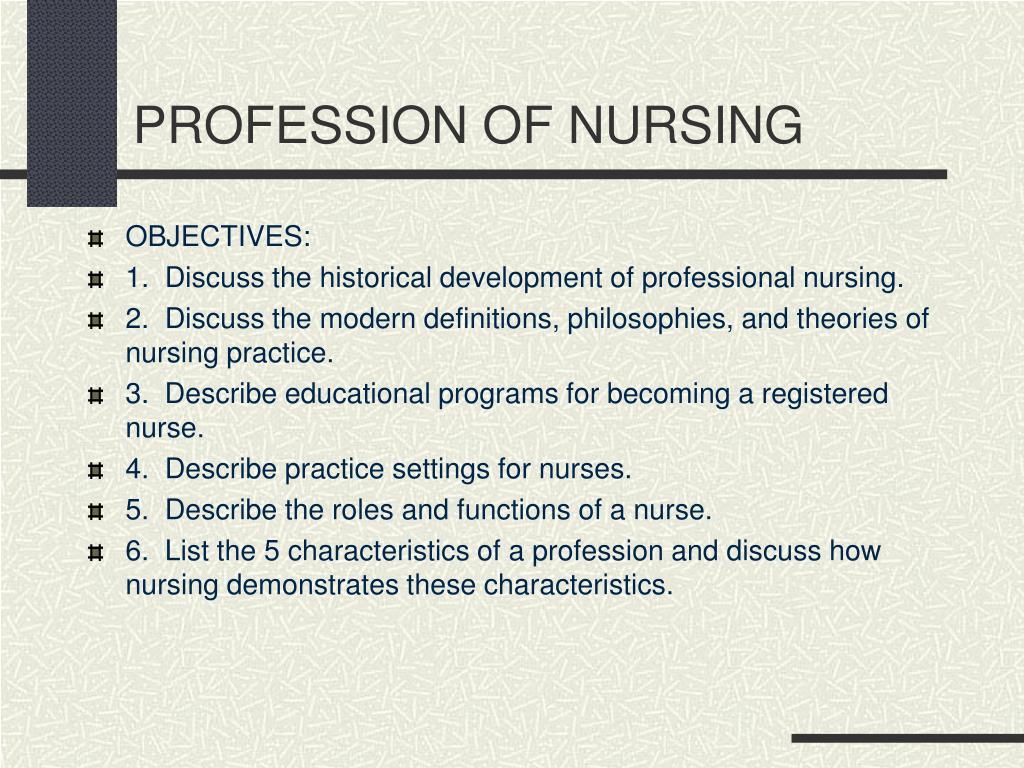 profession of nursing l.