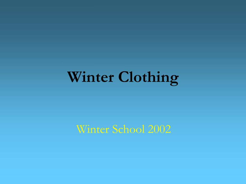 winter clothing l.