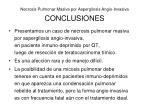 necrosis pulmonar masiva por aspergilosis angio invasiva conclusiones