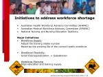 initiatives to address workforce shortage