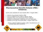 pharmaceutical benefits scheme pbs initiatives