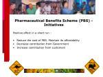 pharmaceutical benefits scheme pbs initiatives25
