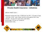 private health insurance initiatives