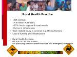 rural health practice