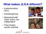 what makes jlica different