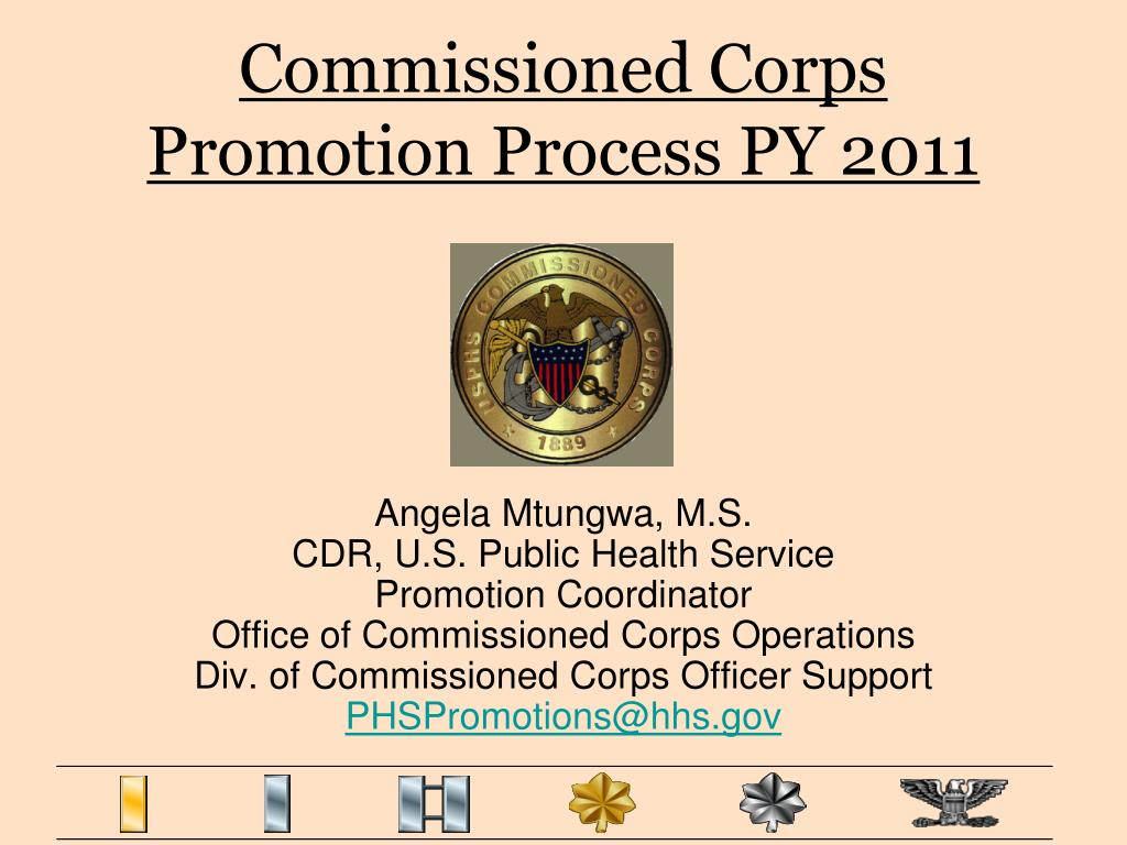 commissioned corps promotion process py 2011 l.