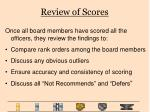 review of scores