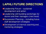laphli future directions