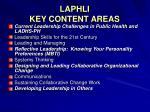 laphli key content areas
