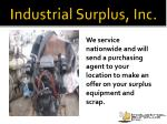 industrial surplus inc9