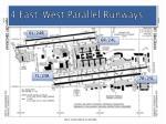 4 east west parallel runways