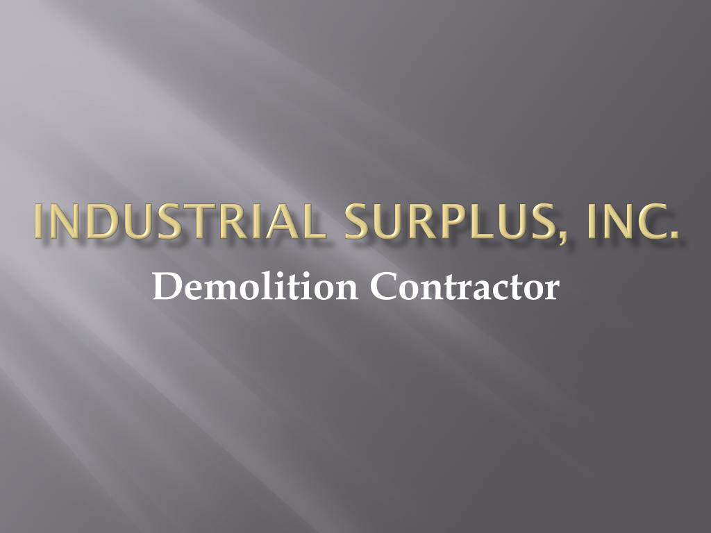 industrial surplus inc l.