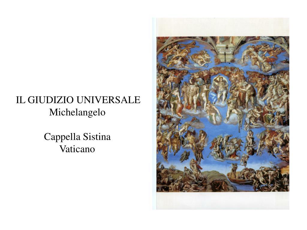 il giudizio universale michelangelo cappella sistina vaticano l.