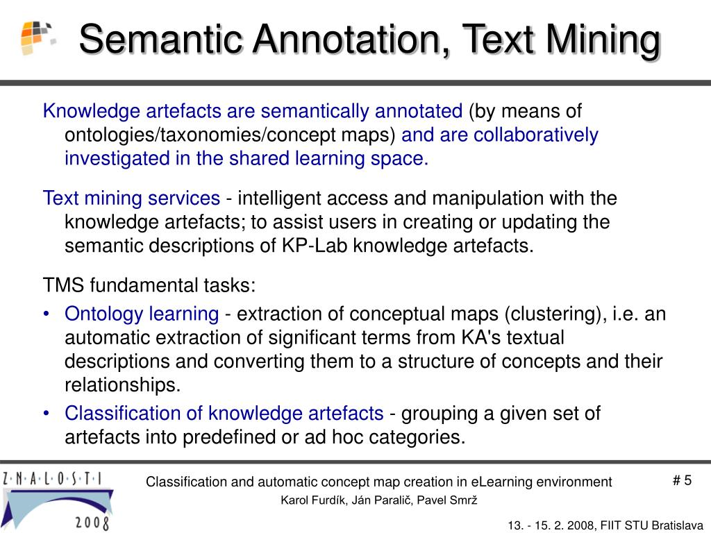 Semantic Annotation, Text Mining
