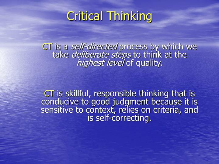 3 steps in critical thinking
