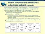 primer komponentne arhitekture u e business aplikaciji nastavak