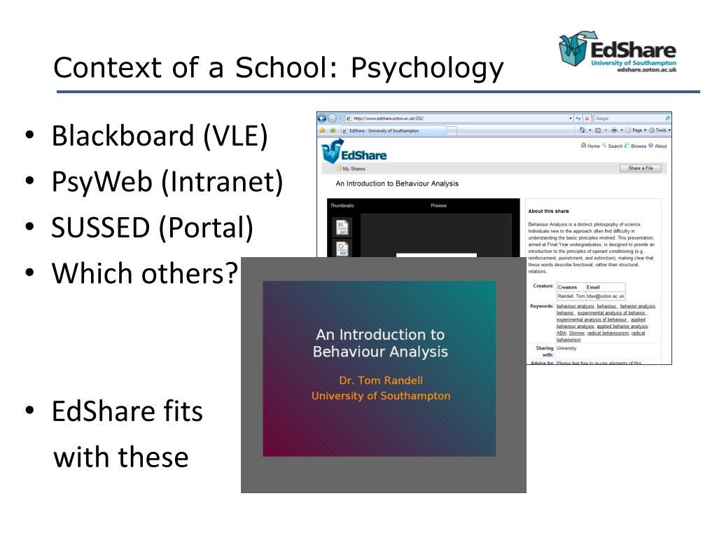 Context of a School: Psychology