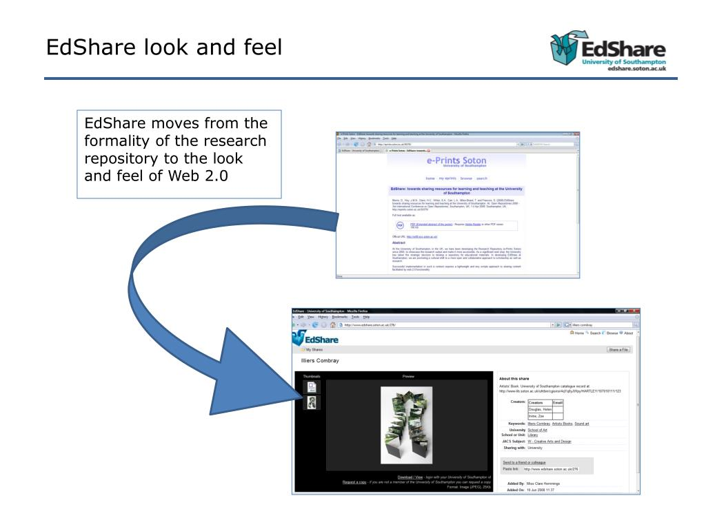 EdShare look and feel