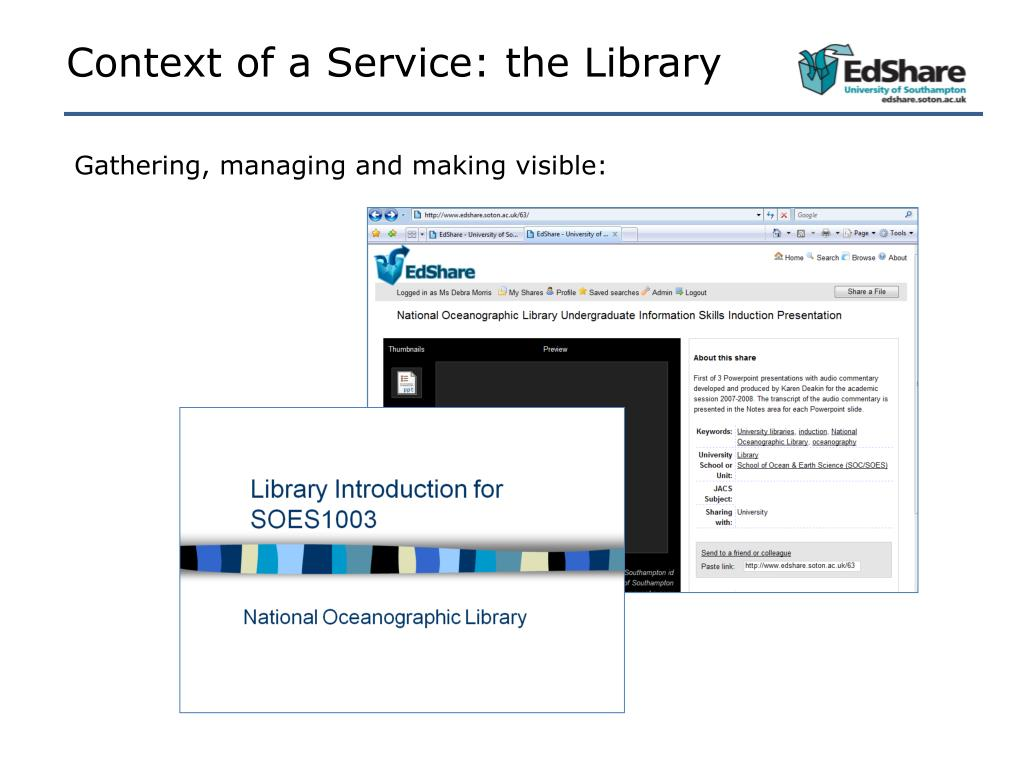 Context of a Service: the Library