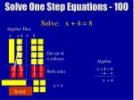 solve one step equations 1004