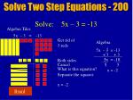 solve two step equations 20016