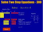 solve two step equations 30018