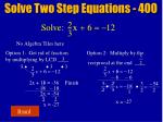 solve two step equations 40020