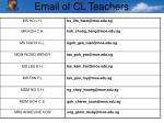 email of cl teachers