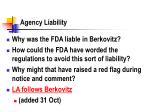 agency liability