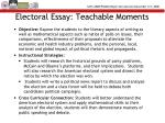 electoral essay teachable moments