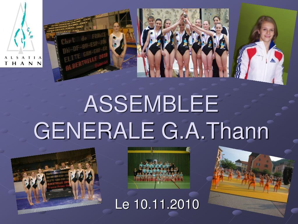 assemblee generale g a thann l.