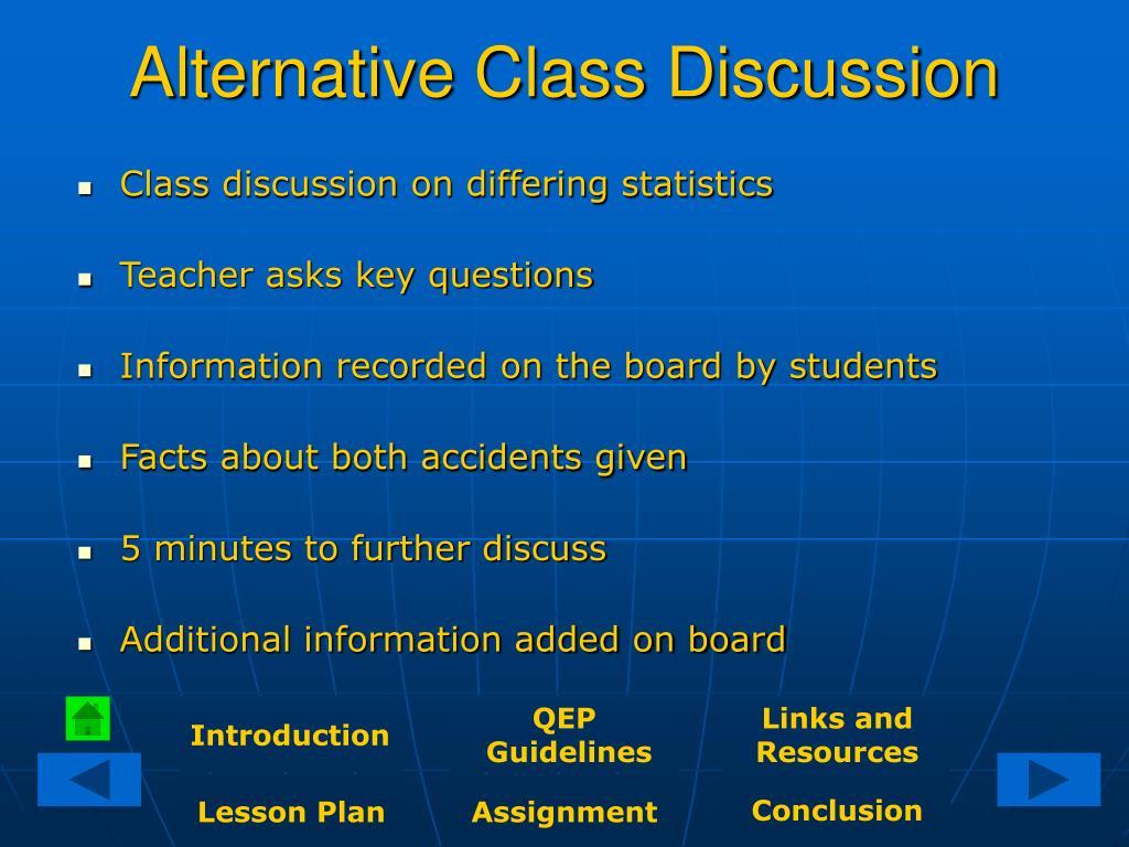 Alternative Class Discussion
