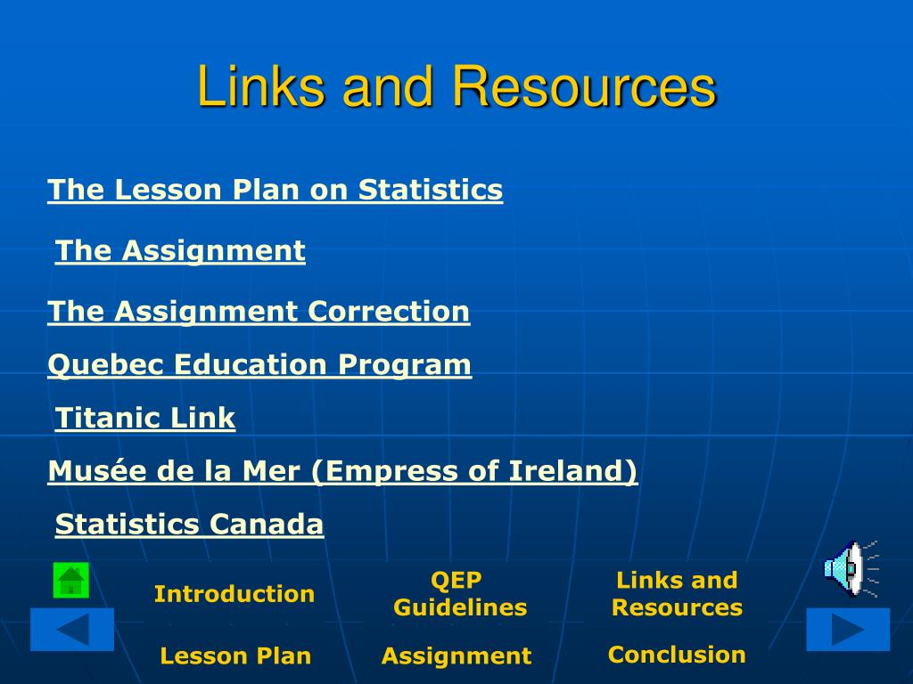 Links and Resources