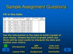 sample assignment questions