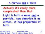 a particle and a wave