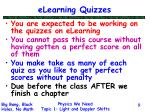 elearning quizzes