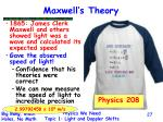 maxwell s theory
