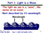 part 1 light is a wave