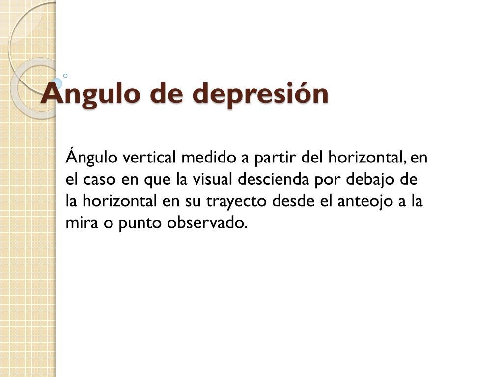 angulo de depresi n l.
