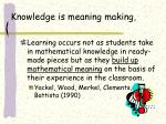 knowledge is meaning making
